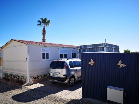 Outside of the home : 2 bed, 1 bath mobile home for sale in Las Rosas